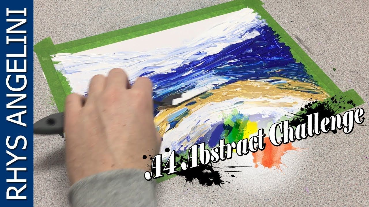 How To Paint Abstract Art A4 Abstract Challenge Video 26