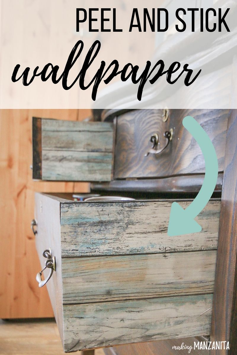 Add Peel And Stick Wallpaper To The Sides Of Drawers Peel And Stick Wallpaper Diy Furniture Accessories Diy Your Furniture