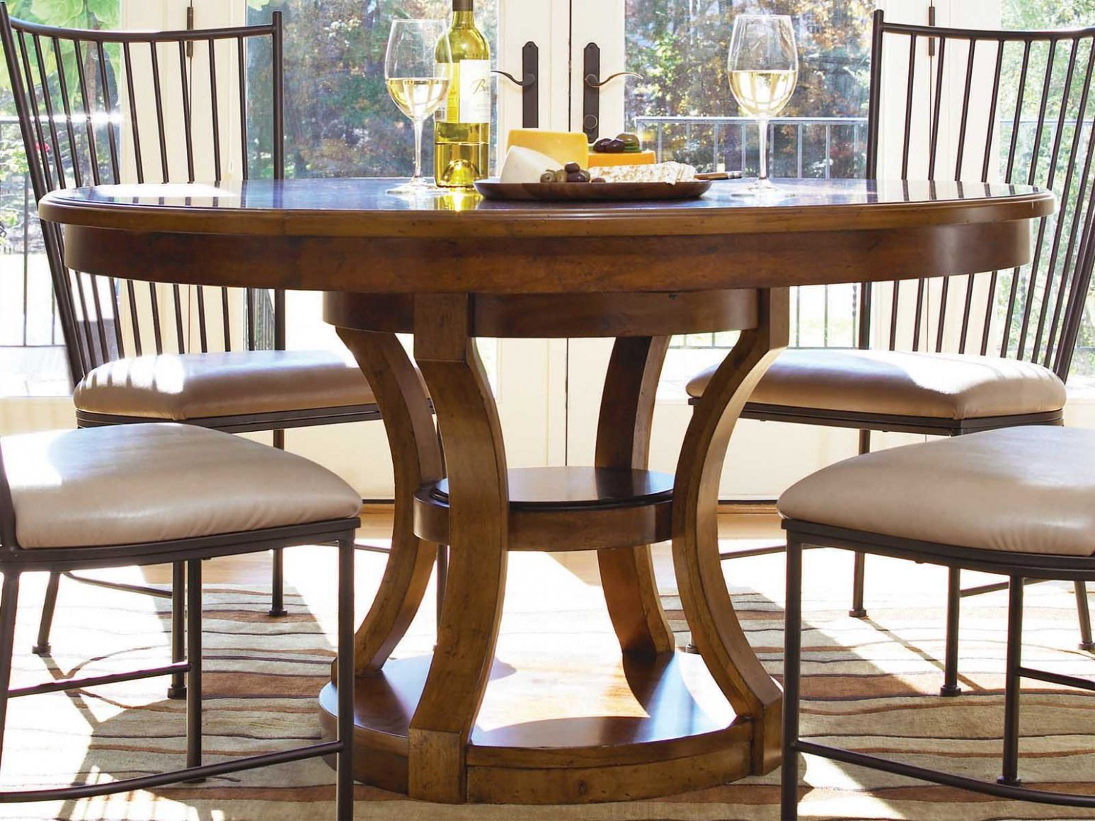 Inch Round Dining Table With Leaf Best Spray Paint For - 54 inch round table with leaf