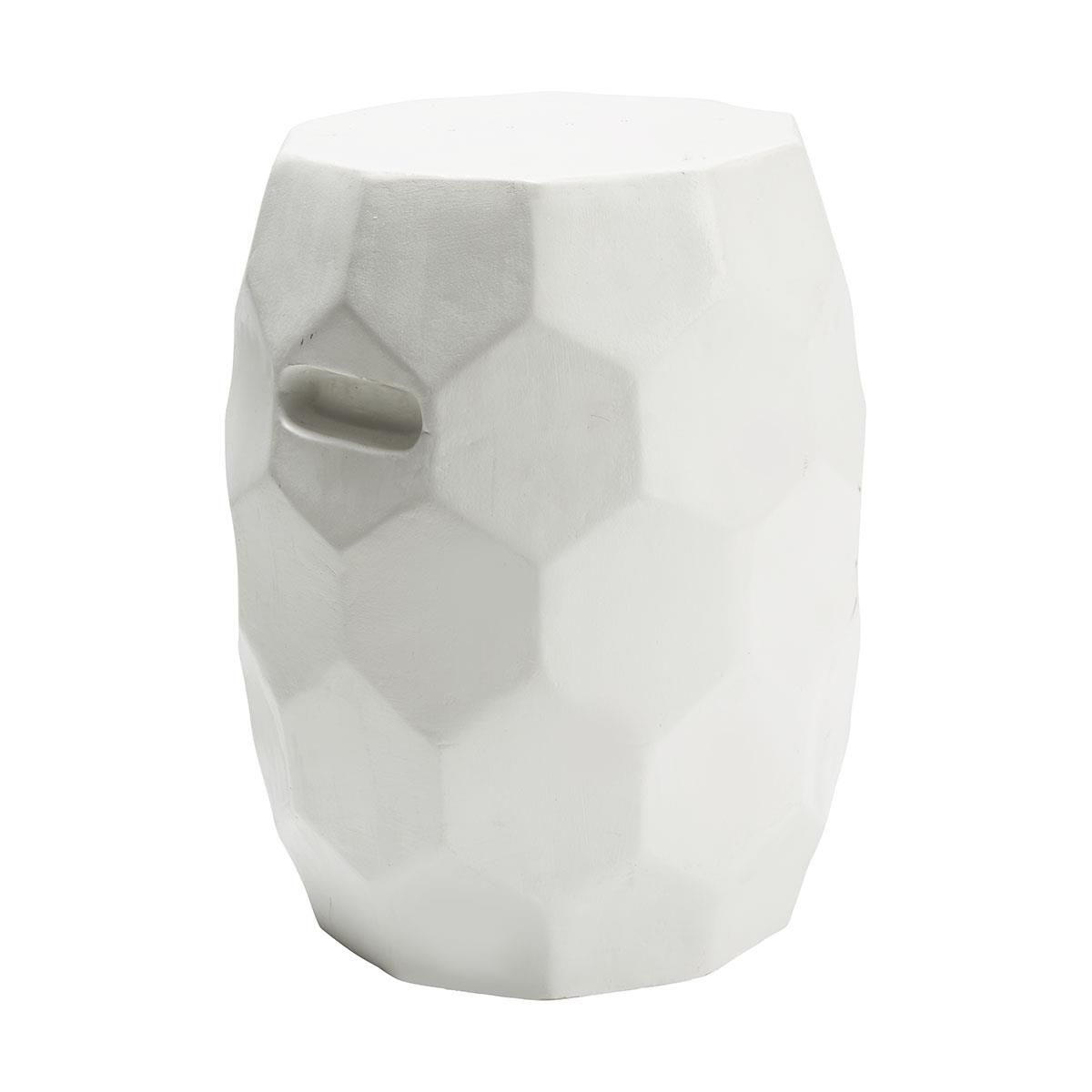 Honeycomb Garden Stool White Kmart