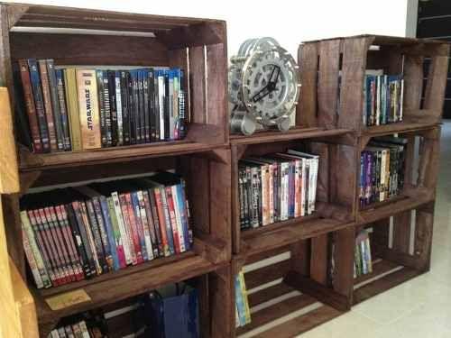 Bibliotecas racks estanterias cubos cajones de frutas - Cajones para estanterias ...