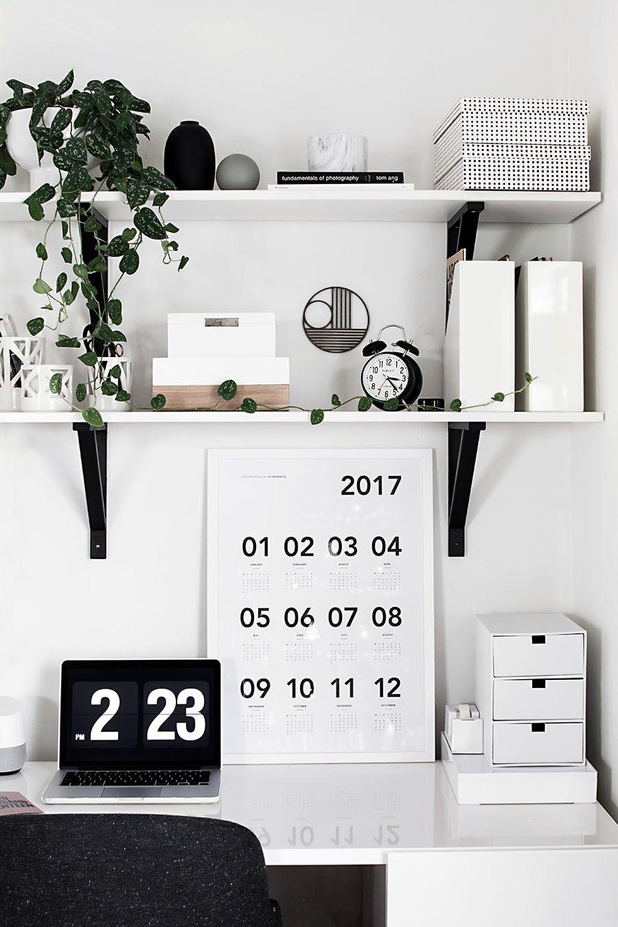 Simple Bedroom Updates desk organization updates | twitter, desk storage and desks