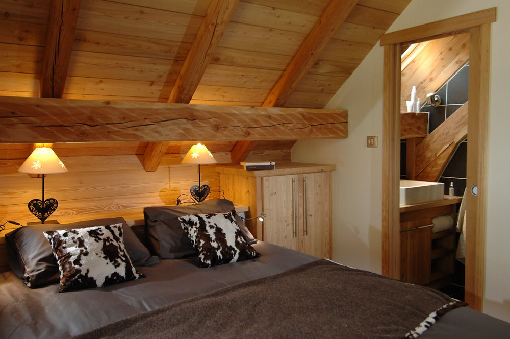 chalet interieur chambres pinterest chalet. Black Bedroom Furniture Sets. Home Design Ideas