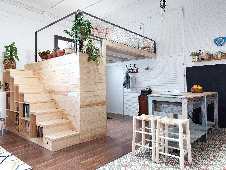 A Barcelone Un Garage Transforme En Loft Amenagement Petit