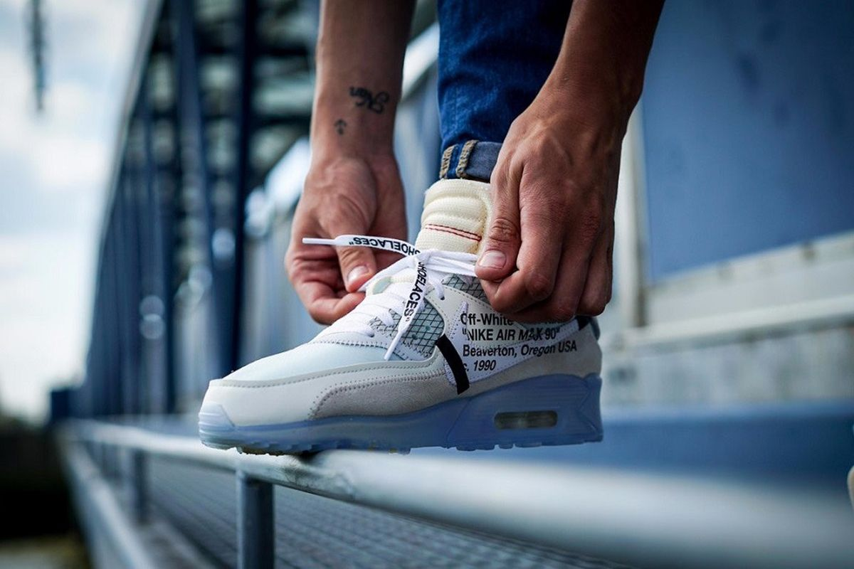 f58f7a5540ef Your Best On-Feet Look yet at the OFF-WHITE x Nike Air Max 90
