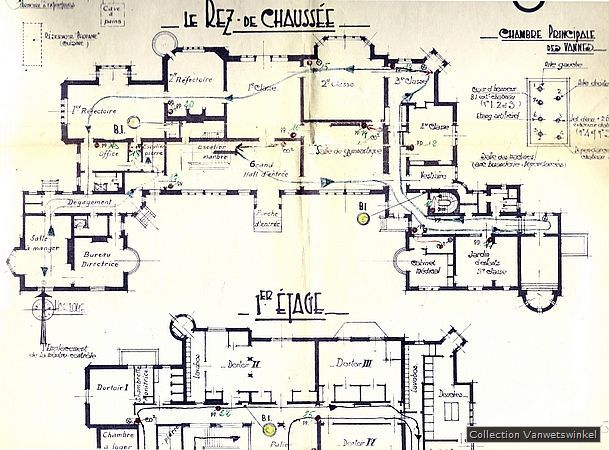 Der Spurensammler - Chateau Noisy - Historische Bilder - plan d interieur de maison