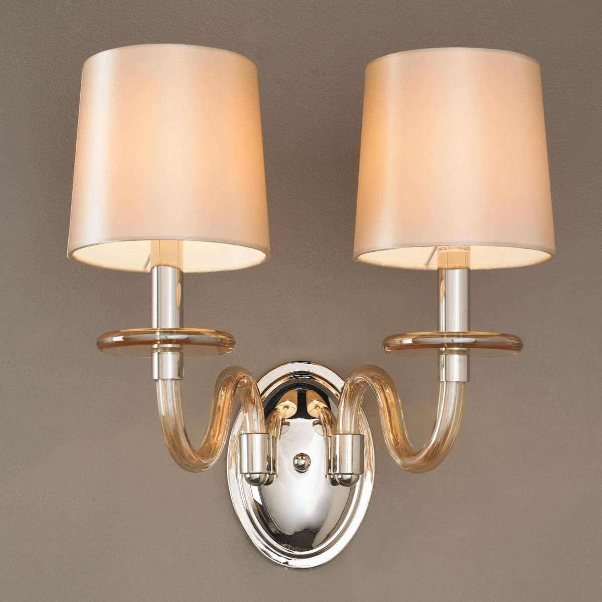 Modern Blown Glass Double Wall Sconce Double Wall Sconce Wall Sconce Hallway Sconces Blown glass wall sconces