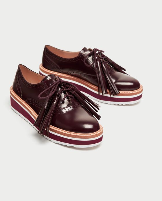 fc9d704b7a7 Image 3 of PLATFORM BROGUES WITH FRINGING from Zara   SHOES   Oxford ...