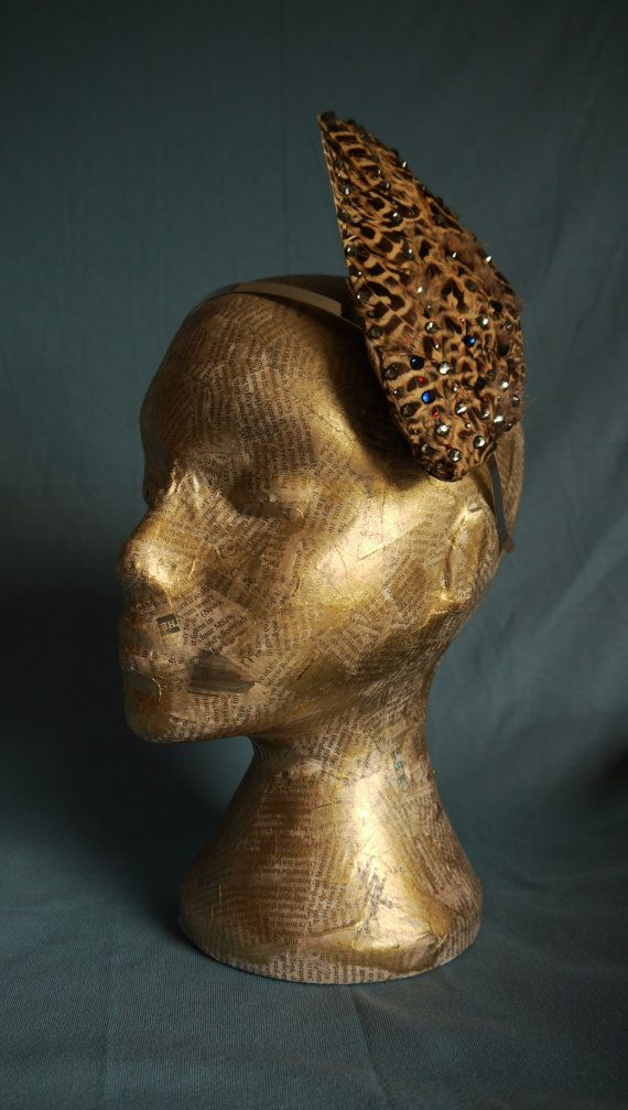 Sparkly  female pheasant wing fascinator by LadyBboutique on Etsy, £50.00