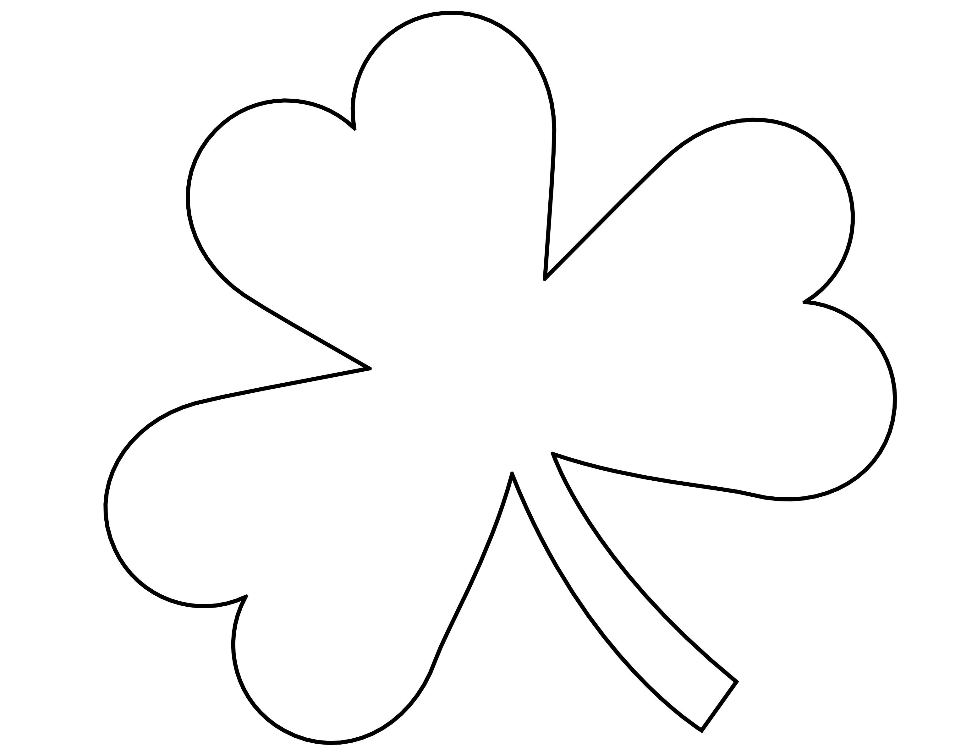 image about Printable Shamrock Images titled 5 Excellent Shots of 4 Leaf Shamrock Template Printable - St