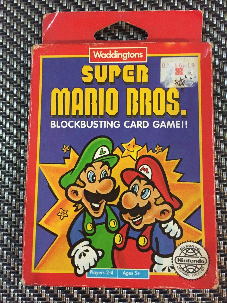 Nintendo Super Mario BLOCKBUSTING GAME Vintage Playing
