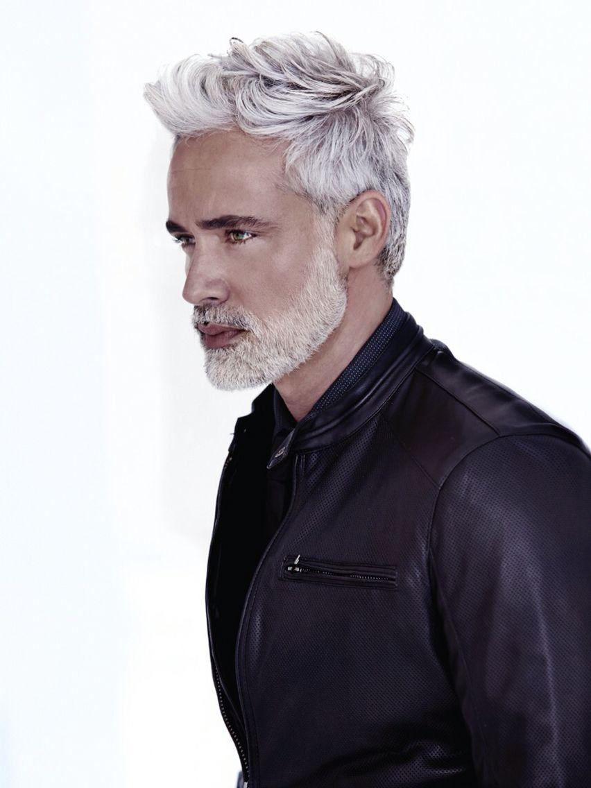 Gray hair model grey hair men gents hair style hair