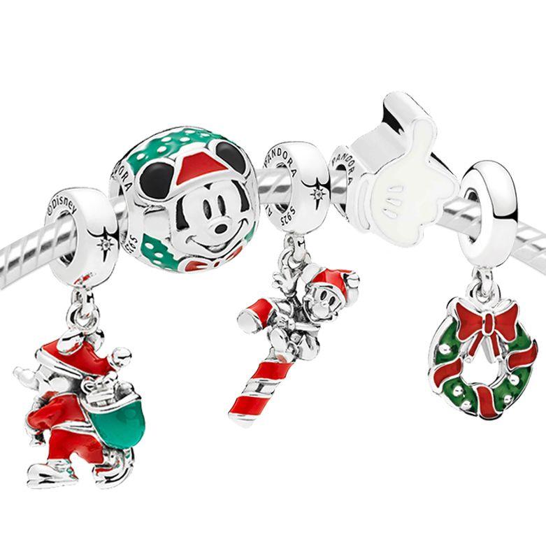 Pandora Charms Weihnachten.Pandora Disney Mickey S 90th Christmas Gift Set Uk Clearance