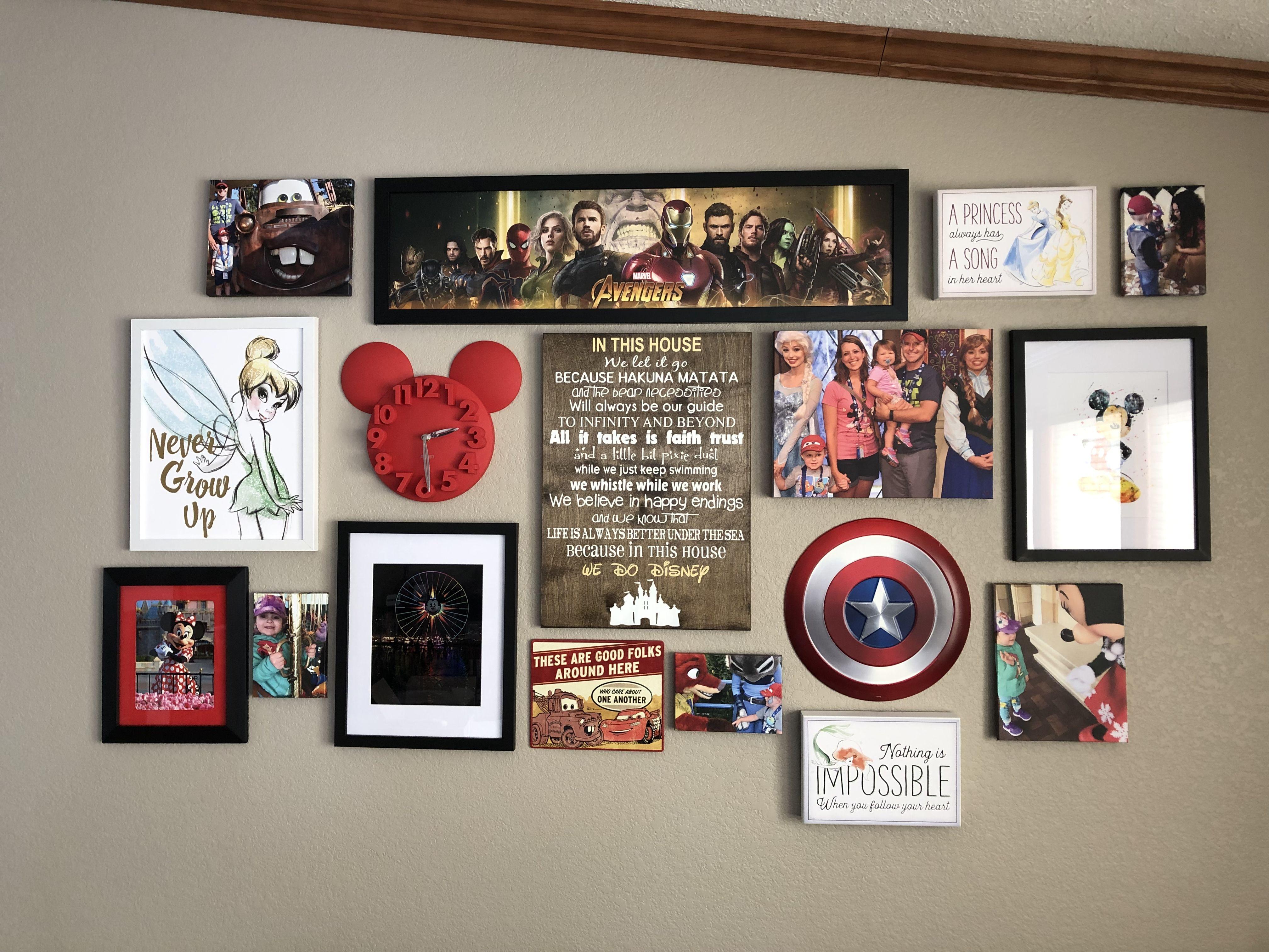 Disney Wall Collage Disney Wall Decor Disney Room Decor Disney Decor