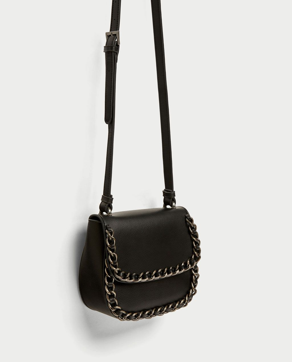 d42f466a852 Image 3 of CROSSBODY BAG WITH CHAIN DETAIL from Zara