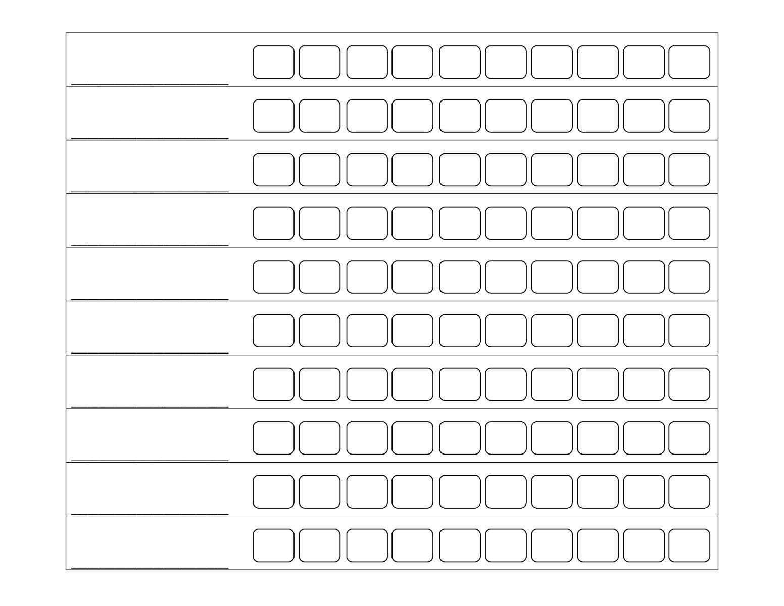 Printable Behavior Reward Chart