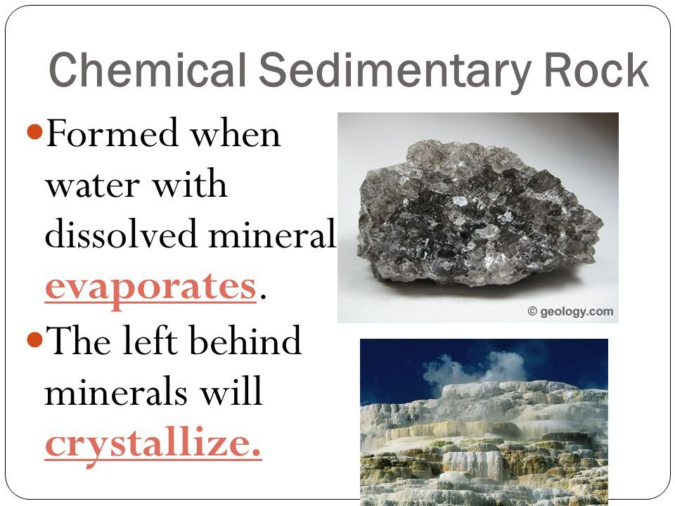 Chemical Sedimentary Rock Earth Science Pinterest Rock Earth