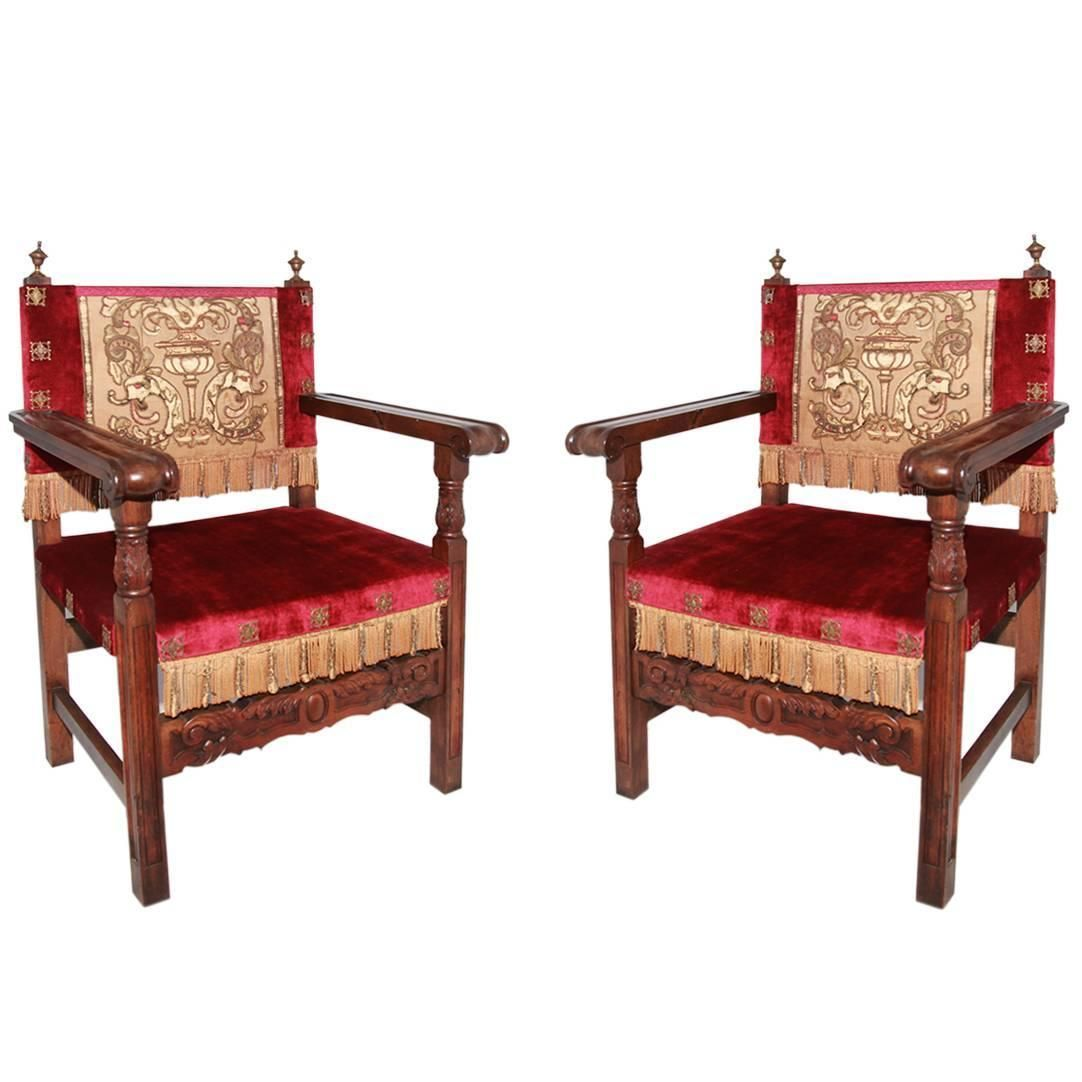 Modern savonarola chair - 3800 Pair Of Antique 18th Century Renaissance Italian Chairs From A Unique Collection Of