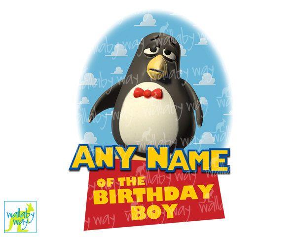Wheezy Penguin Toy Story Birthday Printable Iron On Transfer Or As