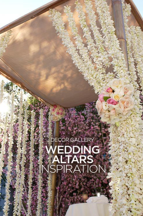 One of the most photographed elements of the wedding ceremony is the wedding altar. Check out those 50 image inspiration: http://www.colincowieweddings.com/the-galleries/wedding-decor/wedding-altar