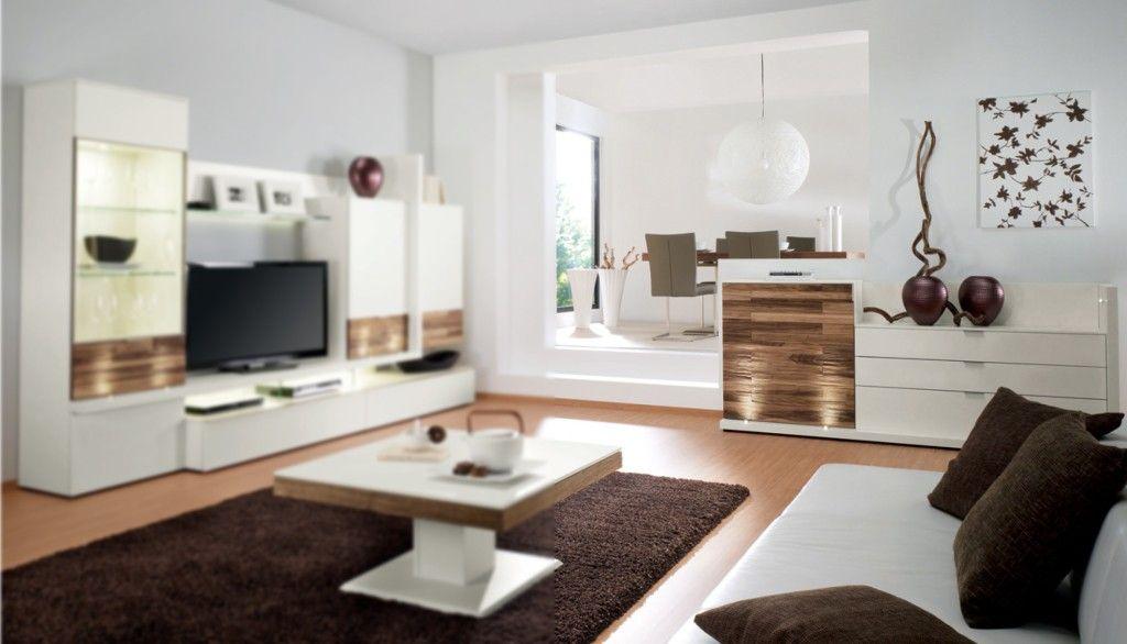 Gwinner #Sideboard #Lack #weiß #Nussbaum #natur #Wohnzimmer - Möbel ...