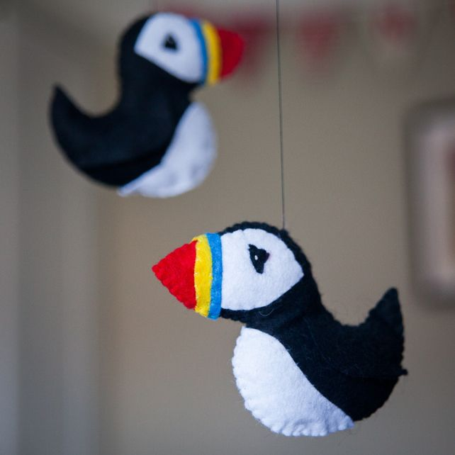 Cute Puffin Mobile | Gifts for Children | Personalised gifts
