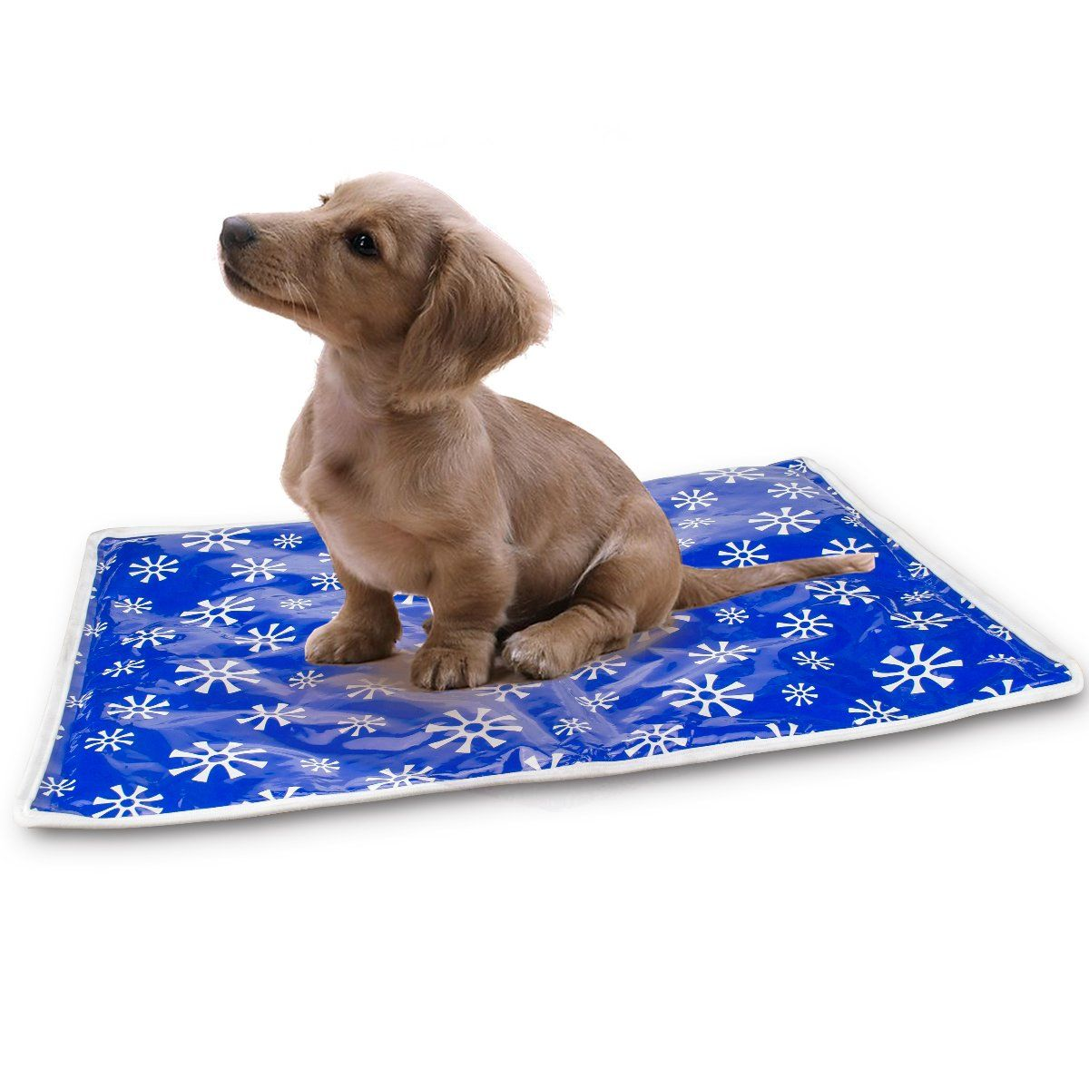 Blue Pet Cooling Mat 20 x 16 inch Fabric Taffeta Pet Pads