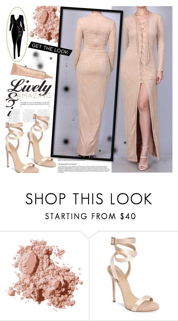 """Nahla's Closet"" by gaby-mil ❤ liked on Polyvore featuring Bobbi Brown Cosmetics, Giuseppe Zanotti, tarte, dress and nahlascloset"