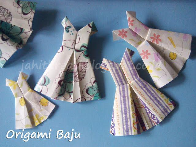 Membuat Baju Dari Origami