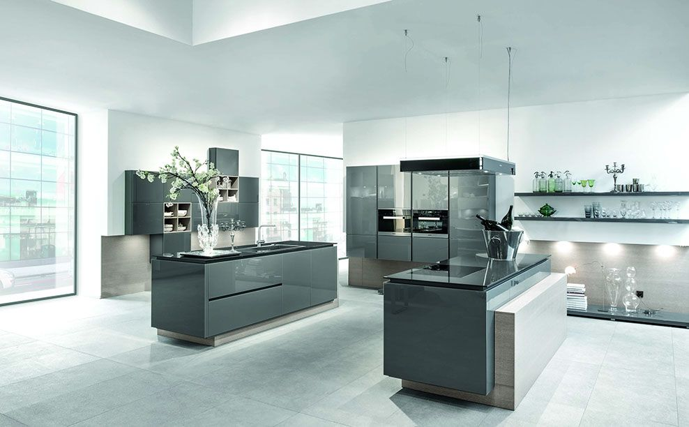 Complete Kitchens Ely Gloss Kitchens This colour grey and the - häcker küchen systemat