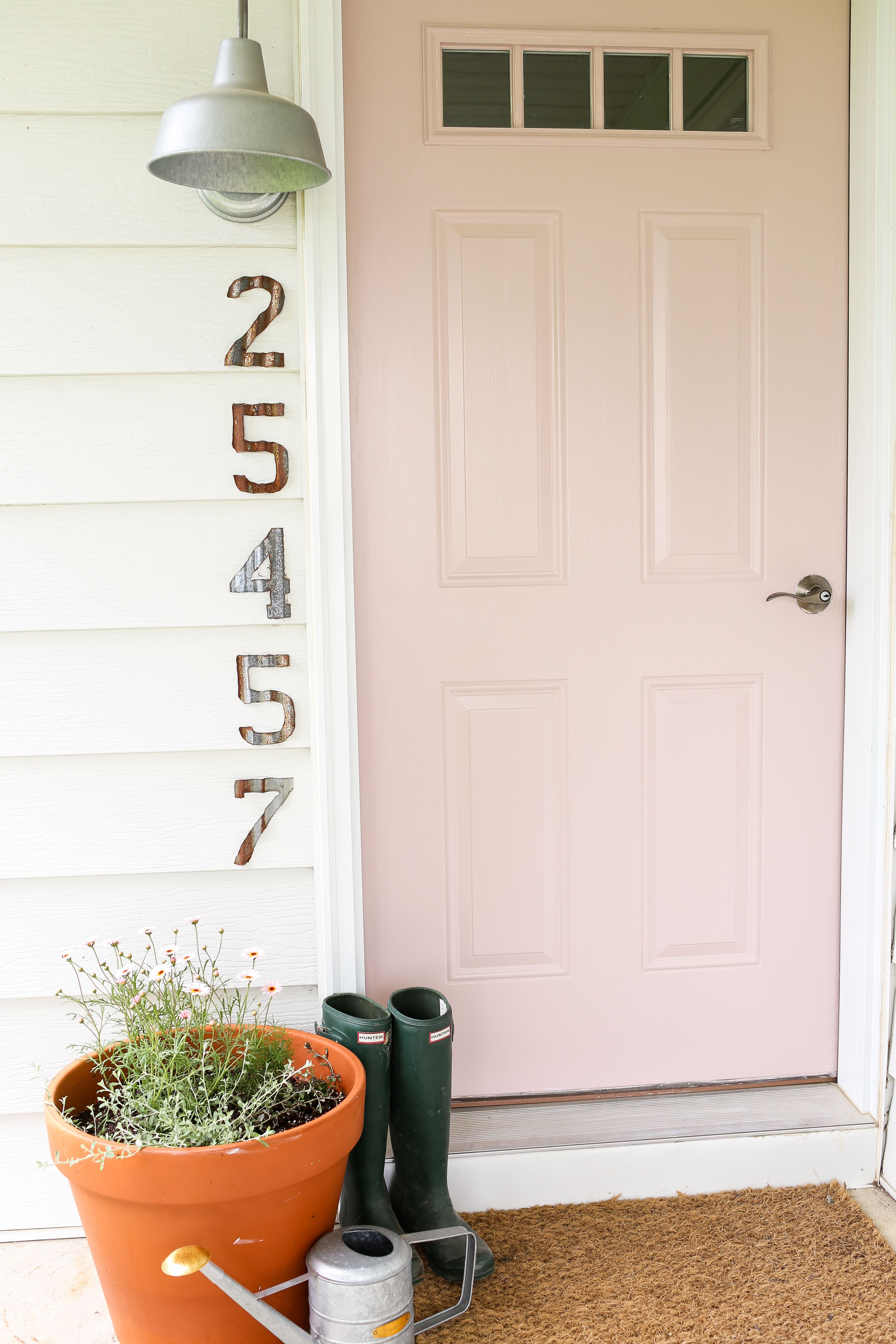 A Soft Pink Door For The Front Of The Farmhouse