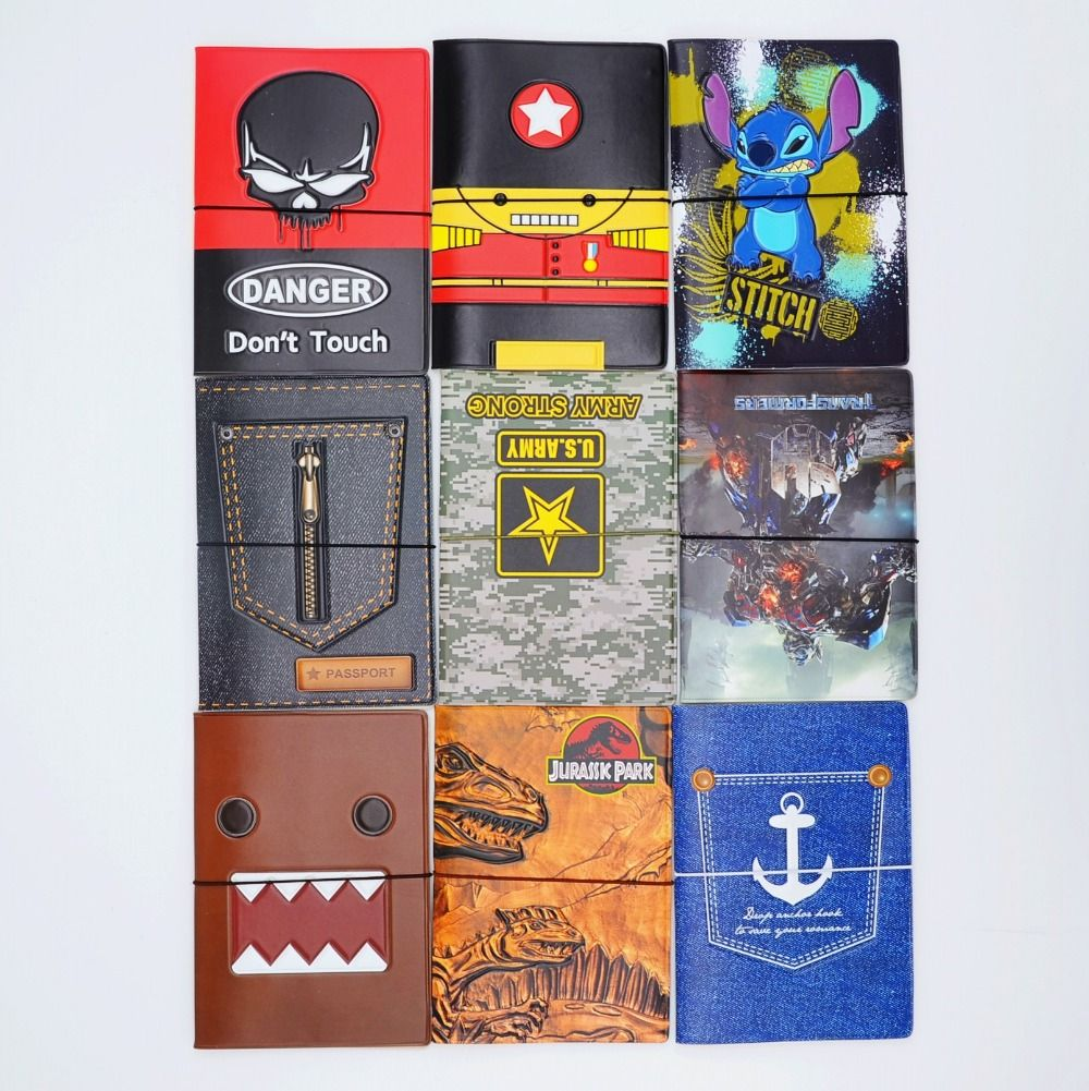 Fashion 3d Leather Passport Holder Passport Cover For Travel Card