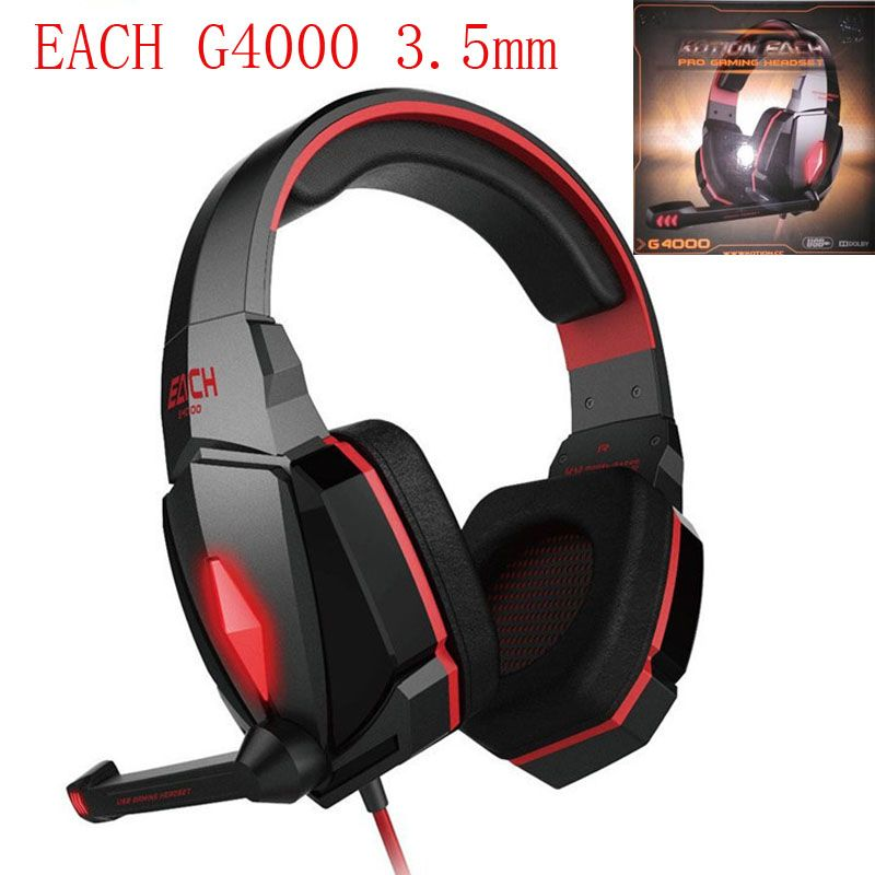 2b56433f515 EACH G4000 Gaming Headset Over-ear Hifi Headphone auriculares Stereo ...