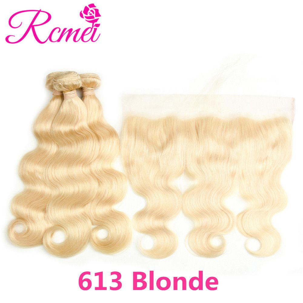 Hair Weaves Human Hair Weaves Ombre Honey Blonde Brown Wine Red Colored Bundles Two Tone Dark Roots Brazilian Body Wave Hair Weave 3 Bundle Deal Nonremy Rcmei