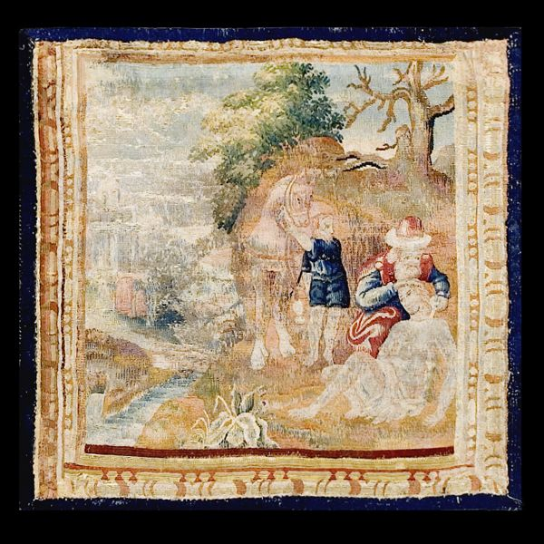 Stock Id: #17157    General Rug Type:       European    Specific Rug Type:       Tapestry    Circa: 1700    Color: Other    Origin: France    Width: 1' 9'' ( 53.3 cm )    Length: 1' 9'' ( 53.3 cm )