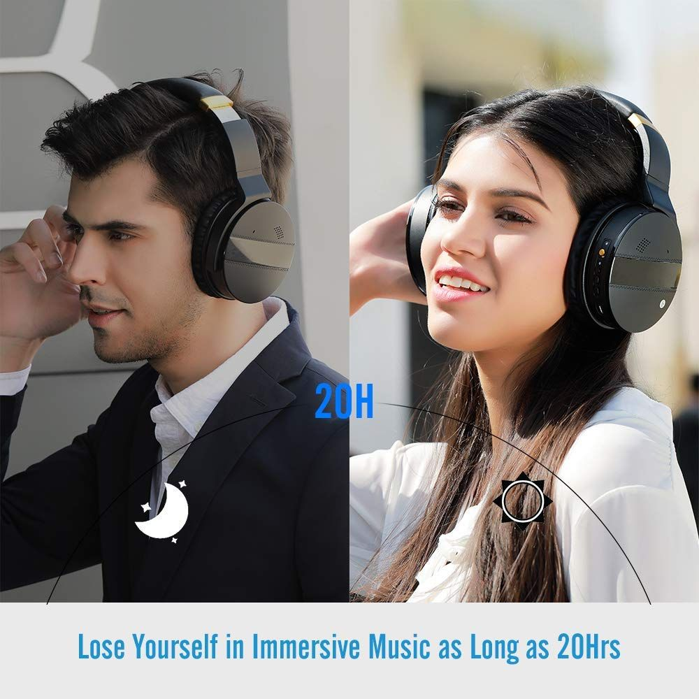 15c6106a7c8dc7 Meidong E8A (New Version) Bluetooth Headphones Over Ear, Acitve Noise  Cancelling Headphones Wireless Headsets with Mic Hi-Fi Stereo Deep Bass  Protein ...