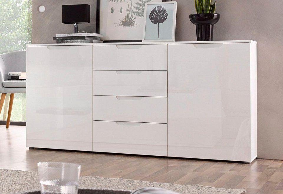 Forte Sideboard Breite 164 Cm Masse B T H 164 6 34 1 84 9 Online Kaufen Hochglanz Sideboard Weiss Holzwerkstoff