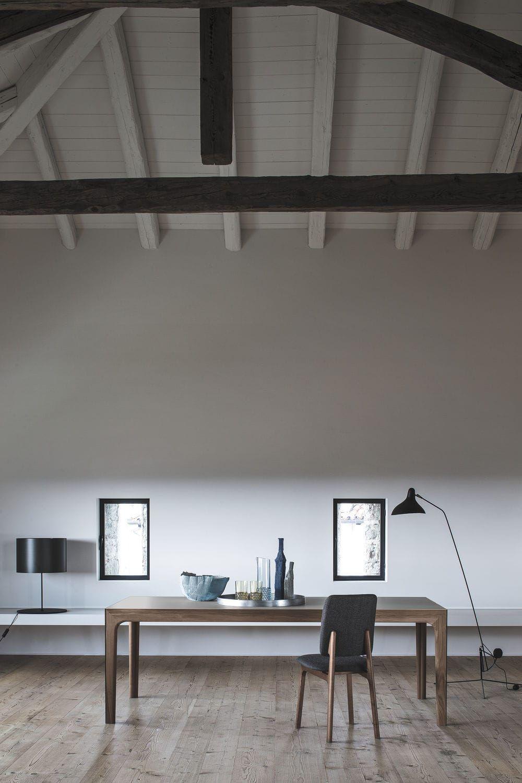 Table Rectangulaire / Contemporaine / En Bois / à Rallonge