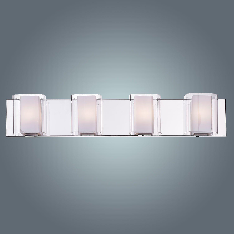 99 Claxy Eco Bathroom Gl Vanity Wall Sconce Lighting Fixture 4 Lights