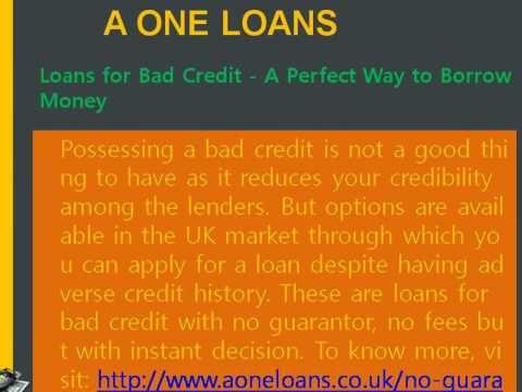 No Guarantor Loans Offers You Long Term Guarantee Loans For Bad Credit Bad Credit Loan
