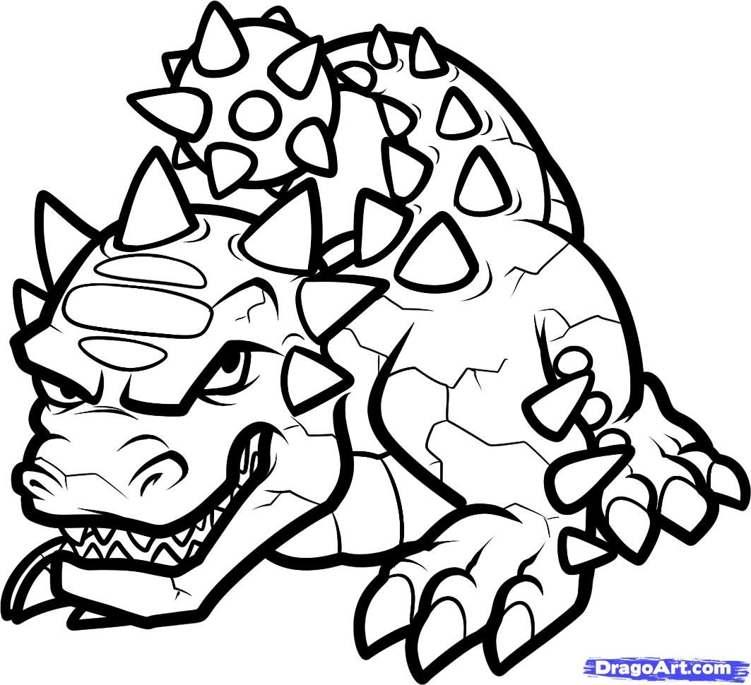 coloring pages of skylanders  how to draw bash