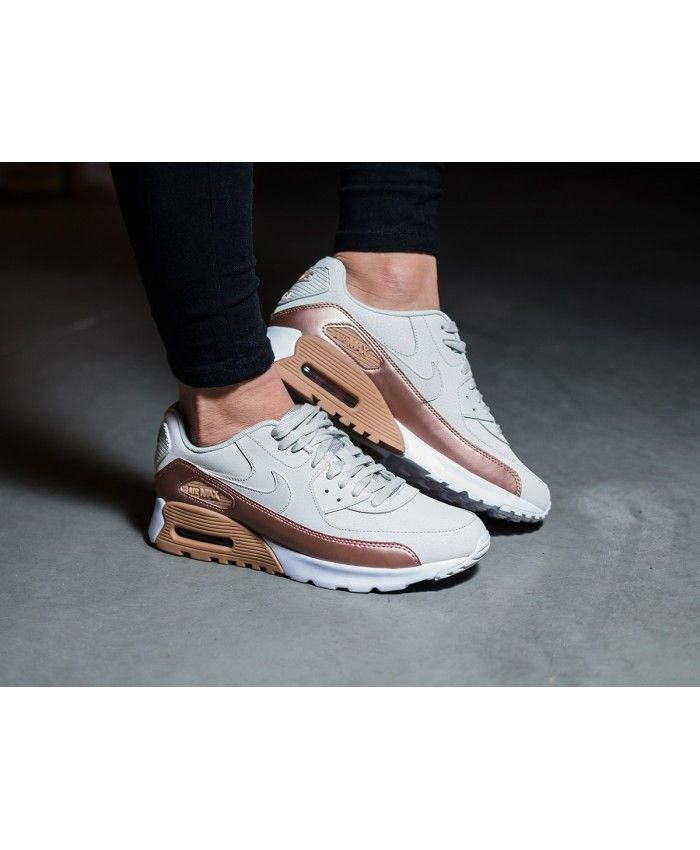 9c430d8e1e52e7 Nike Air Max 90 Ultra Premium White Rose Gold Trainer