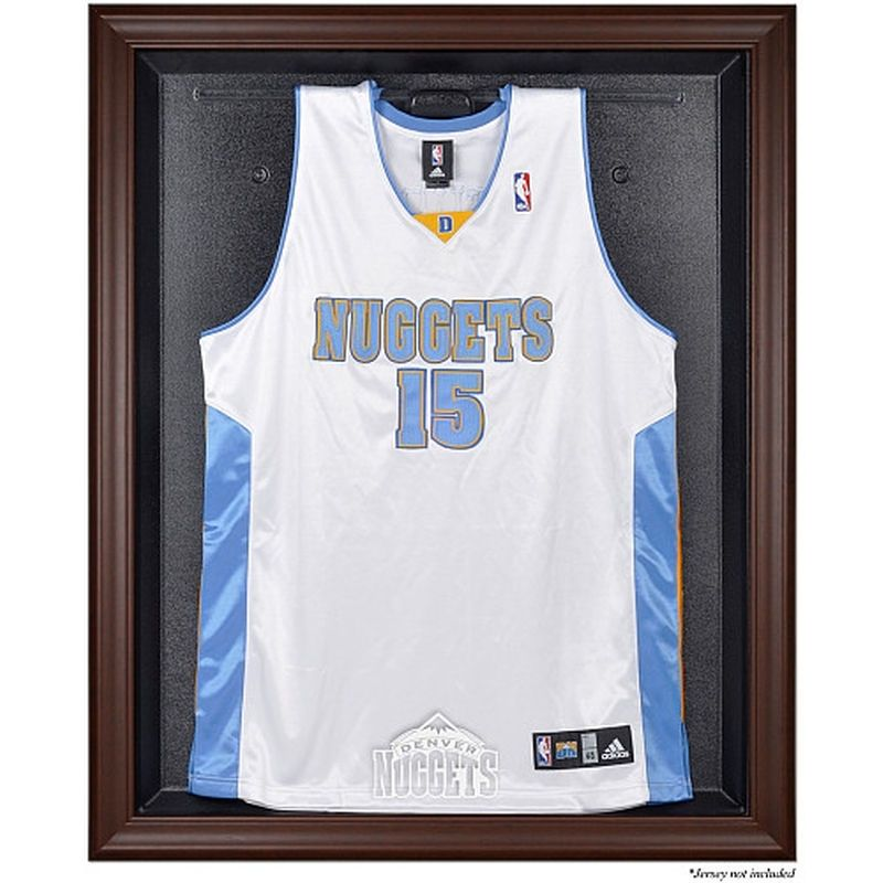 Denver Nuggets Fanatics Authentic Brown Framed Jersey Display Case ...