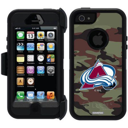 Colorado Avalanche Traditional Camo Design on OtterBox Defender Series Case for Apple iPhone 5/5s