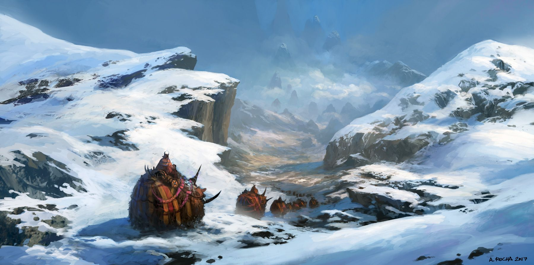 Winter Travellers by Andreas Rocha
