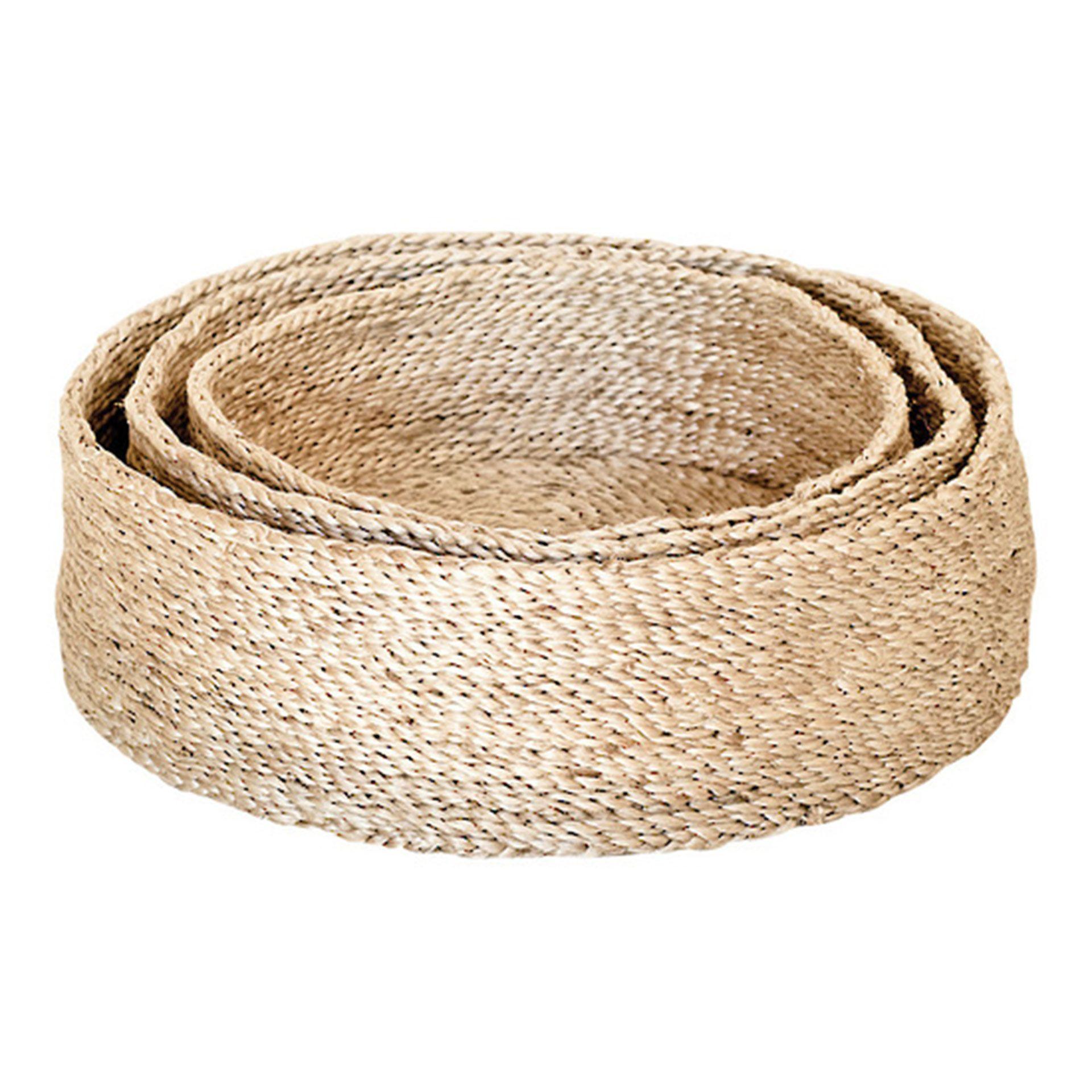 Badezimmerdesign bangladesch round jute bowls in natural  baskets u storage  pinterest