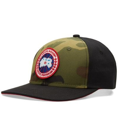 9b3f820b9cb75 Canada Goose Adjustable Ball Cap (Camo   Black)