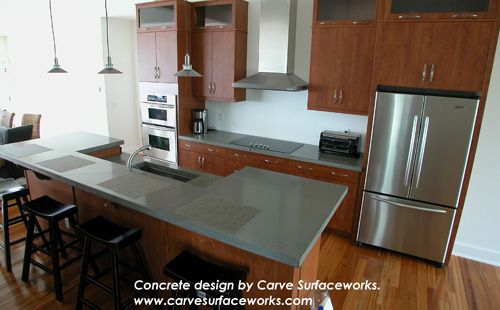 OMG! the counter is concrete ....made with QUIKRETE® - Countertop ...