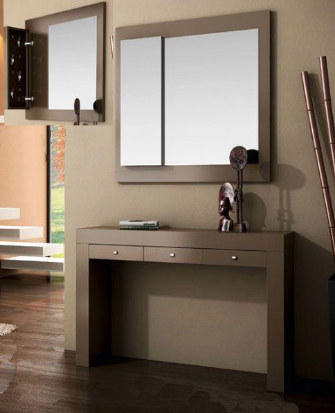 Consolas de madera modernas buscar con google consolas - Consolas recibidor modernas ...