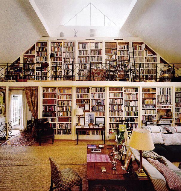 Walls of books everywhere